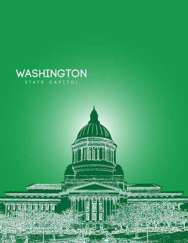 Washington State Capitol Skyline Art