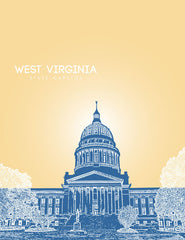 West Virginia State Capitol Skyline Art