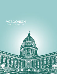 Wisconsin State Capitol Skyline Art