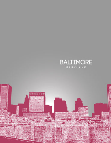 Baltimore Skyline Poster