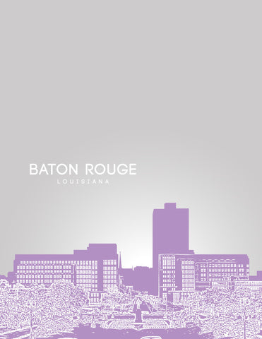 Baton Rouge Skyline Poster