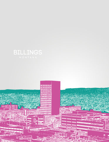 Billings Skyline Poster