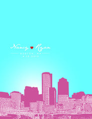 Boston Massachusetts Skyline Poster