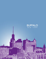 Buffalo New York Skyline Poster