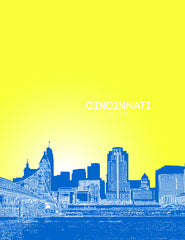 Cincinnati Ohio Skyline Poster