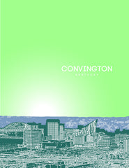 Covington Kentucky Skyline Poster