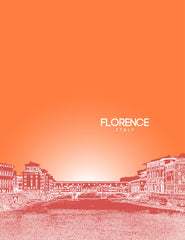 Florence Italy Skyline Poster