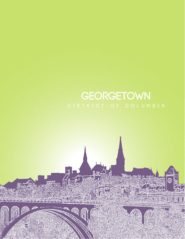 Georgetown District of Columbia Skyline