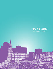 Hartford Connecticut Skyline Poster