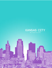 Kansas City Kansas Skyline Poster