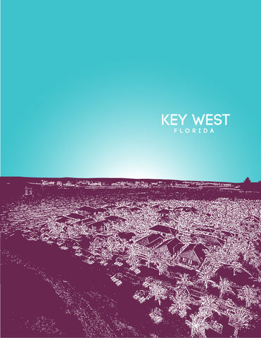Key West Skyline Poster