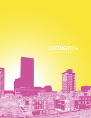 Lexington Kentucky Skyline Poster