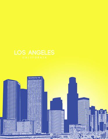 Los Angeles Skyline Posters for Sale