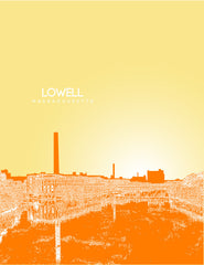 Lowell Massachusetts Skyline Poster