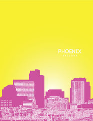 Phoenix Arizona Skyline Poster