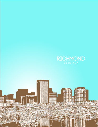Richmond Skyline Poster
