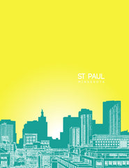 St Paul Minnesota Skyline Poster