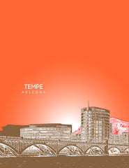 Tempe Arizona Skyline Poster