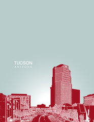 Tucson Arizona Skyline Poster