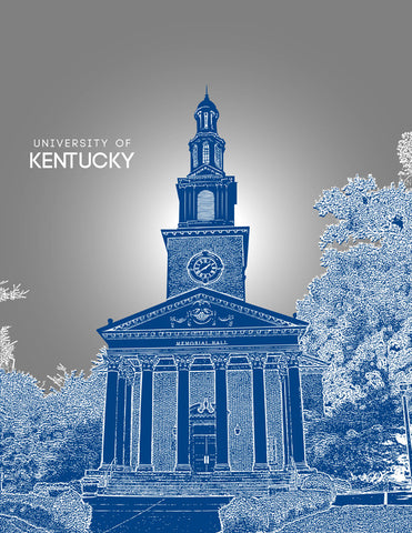 University of Kentucky Skyline Poster