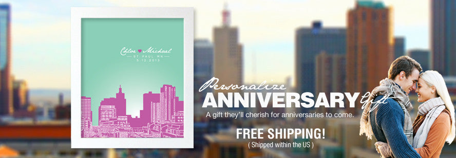 Personalized Anniversary Gift - Custom Posters for Anniversaries