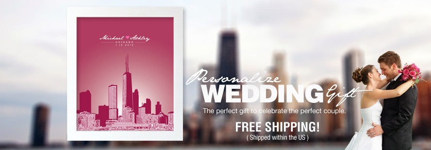 Personalized Wedding Gift - Custom Posters for Wedding