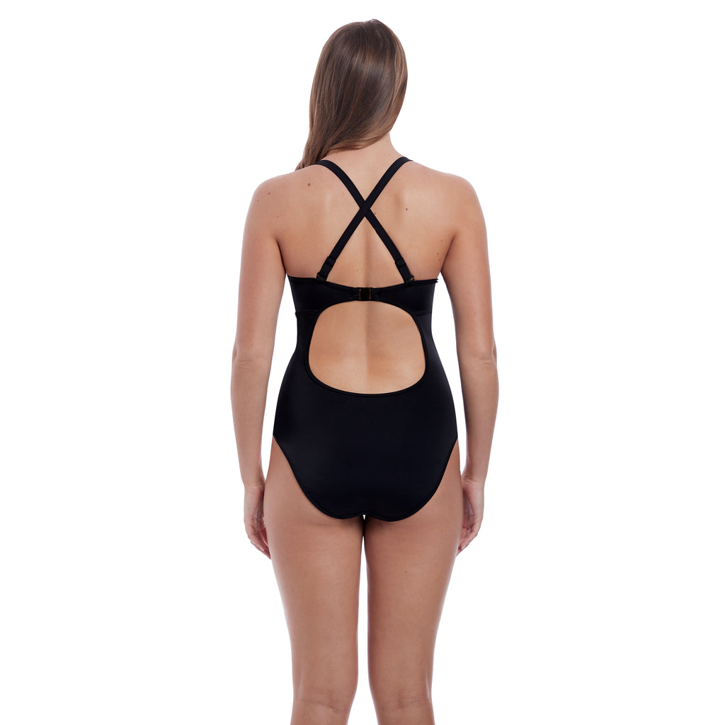 Freya Swimwear 'Remix' Black Uw Padded Convertible Plunge Suit