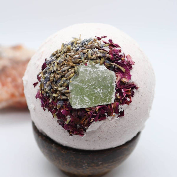 Lavender Rose Crystal Bath Bomb