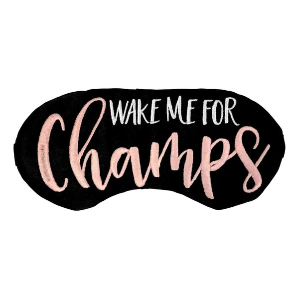 Wake Me For Champs Sleep Mask