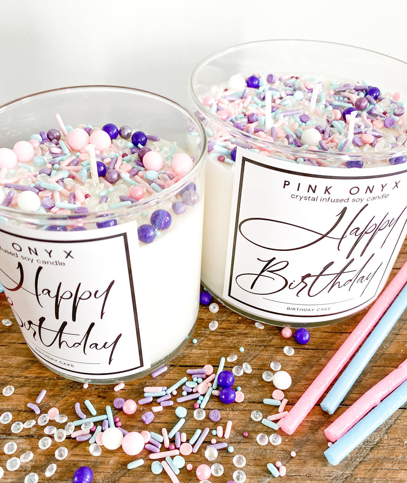 Happy Birthday Sprinkle Candle