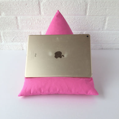 Cerise Pink Plain Tablet or iPad Holder,  Bean Bag Cushion