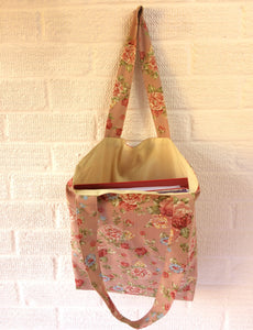 Pink Floral Canvas tote Bag