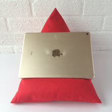 Load image into Gallery viewer, Red Plain Tablet or iPad Holder,  Bean Bag Cushion