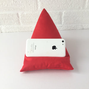 Red Plain Phone Holder Bean Bag Cushion