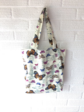 Butterfly Canvas Lined Tote Bagts