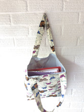 Load image into Gallery viewer, Butterfly themed lined tote bag