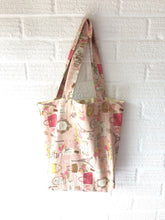 Load image into Gallery viewer, Pink Paris Theme Canvas Tote Bag