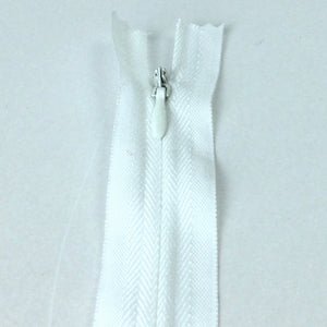 Invisible / Concealed Zippers  - White