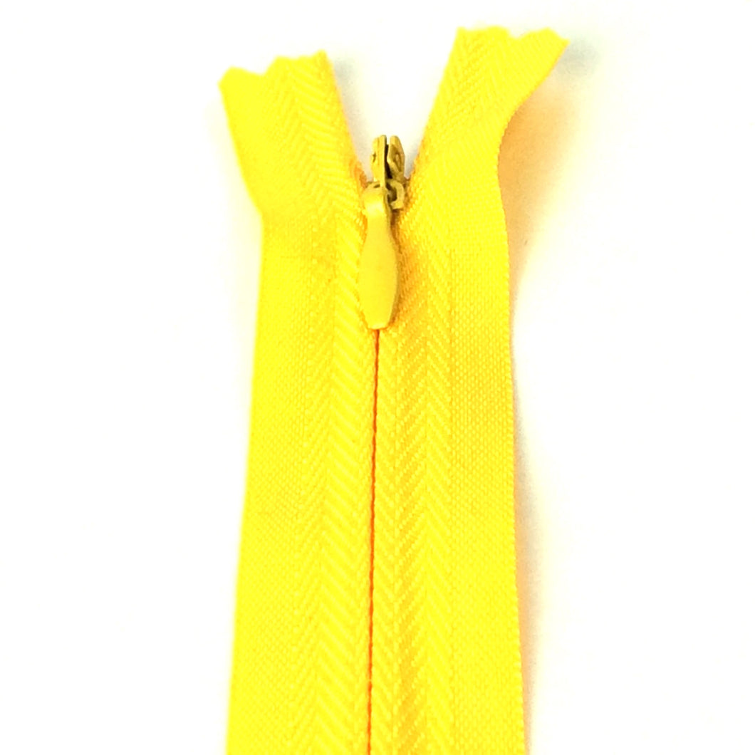 Daffodli yellow invisible zipper, bright yellow