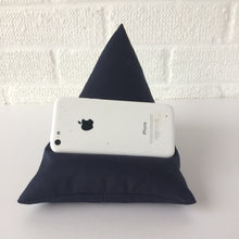 Load image into Gallery viewer, Black Plain Phone Holder Bean Bag Cushion