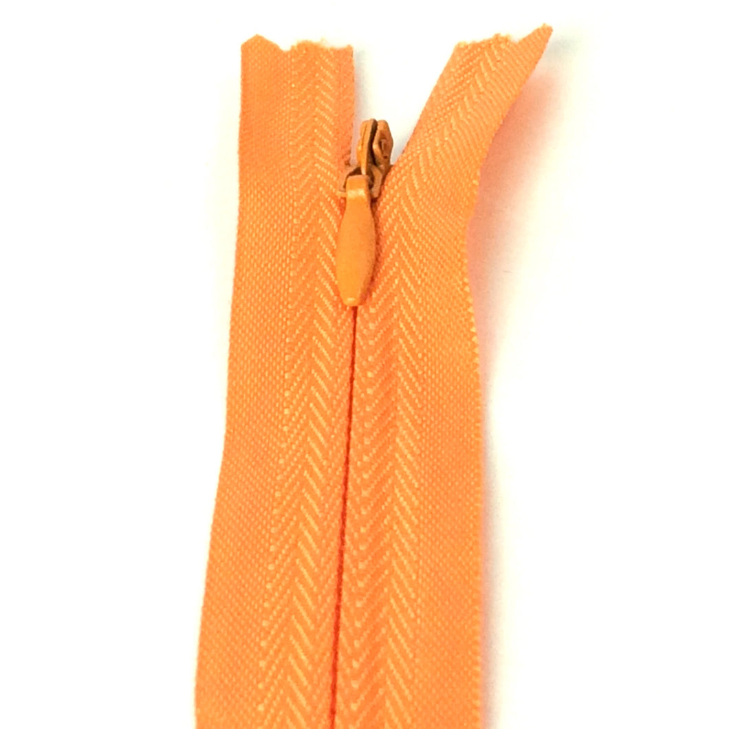Invisible / Concealed Zippers  - Golden Orange