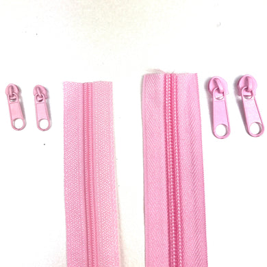 Light Pink Continuous Zipper Roll, Standard Style, Size 3 and 5