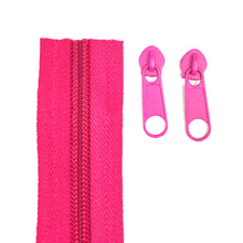 Load image into Gallery viewer, Cerise Pink Continuous Zipper Roll, Standard Style, Size 3 and 5