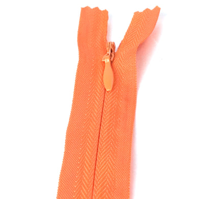 Invisible / Concealed Zippers  - Orange
