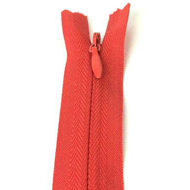 Red invisible zipper