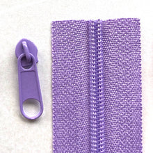 Load image into Gallery viewer, Lilac Purple Continuous Zipper Roll, Standard Style, Size 3 and 5