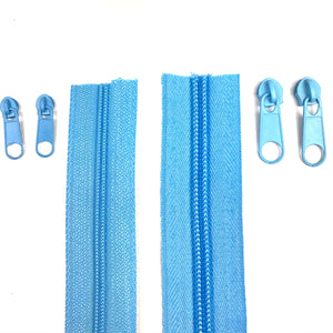 Mid Blue Continuous Zipper Roll, Standard Style, Size 3 and 5