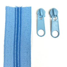 Load image into Gallery viewer, Mid Blue Continuous Zipper Roll, Standard Style, Size 3 and 5
