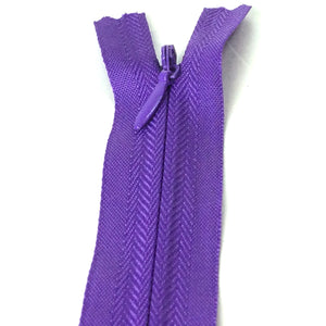 Invisible / Concealed Zippers  - Dark Purple