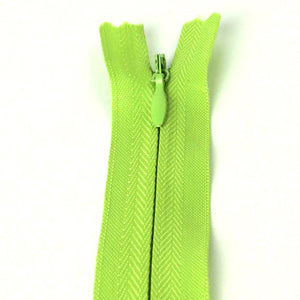 Invisible / Concealed Zippers  - Light Green